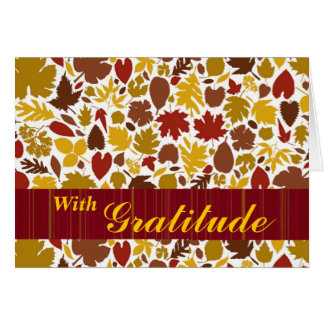 Give Thanks with colorful fall leaves Cards