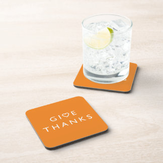 Give thanks with your heart, Thanksgiving message Coaster
