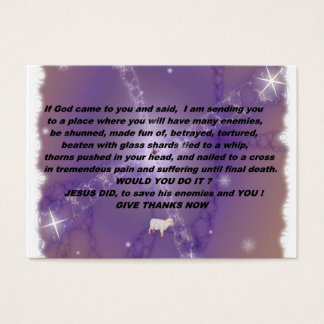 Give Thanks Witness Card
