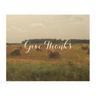 Give Thanks Wood Art Decoration