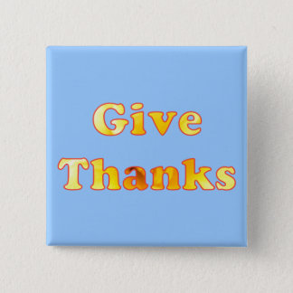 Give thanks, word art with yellow lily, pins