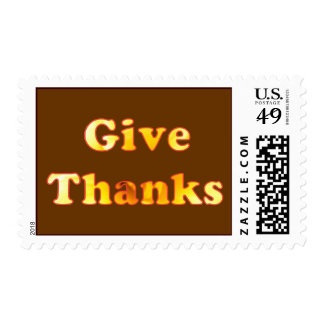 Give thanks, word art with yellow lily, stamps
