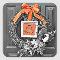 Give Thanks Wreath Stickers