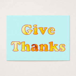 Give thanks, yellow lily word art, business cards