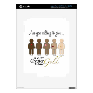 Give the gift of life - A Gift Greater than Gold iPad 3 Decals