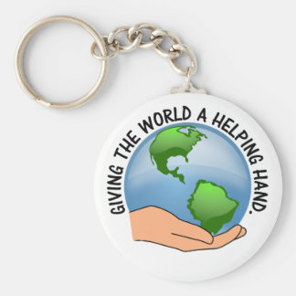 Give the world a helping hand and volunteer keychain