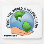 Give the world a helping hand and volunteer mousepads