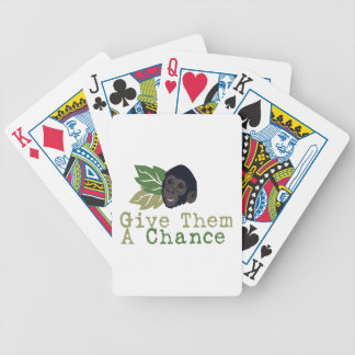 Give Them A Chance Bicycle Playing Cards