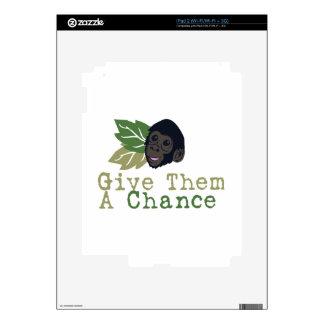 Give Them A Chance iPad 2 Skin