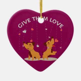 Give Them Love Heart Ornament