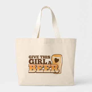 GIVE THIS GIRL A BEER design from The Beer Shop Jumbo Tote Bag