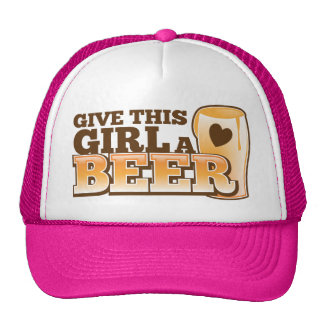 GIVE THIS GIRL A BEER design from The Beer Shop Trucker Hat