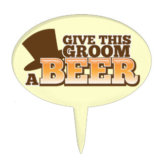 Give this Groom a BEER NP Cake Topper
