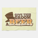 Give this Groom a BEER NP Kitchen Towel