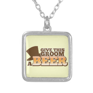 Give this Groom a BEER NP Silver Plated Necklace