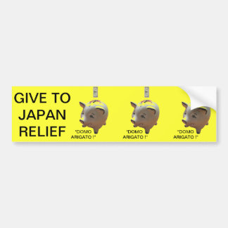 GIVE TO JAPAN RELIEF BUMPER STICKER