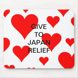 GIVE TO JAPAN RELIEF MOUSEPADS