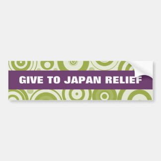 GIVE TO JAPAN RELIEF SEISMIC WAVES BUMPER STICKER