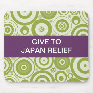 GIVE TO JAPAN RELIEF SEISMIC WAVES MOUSE PAD