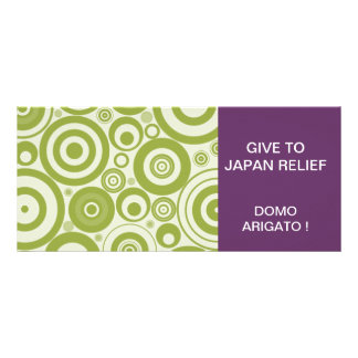 GIVE TO JAPAN RELIEF SEISMIC WAVES RACK CARD