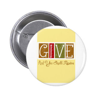 GIVE TO RECIEVE APPLIQUE 2 INCH ROUND BUTTON