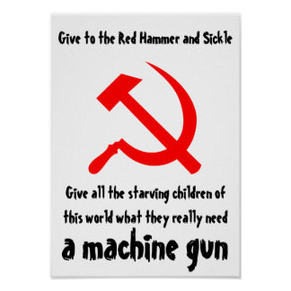 Give to the Red Hammer and Sickle Poster
