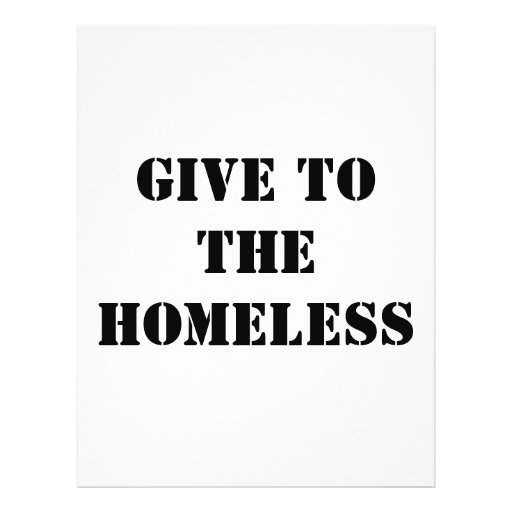 GIVE TO THEHOMELESS FULL COLOR FLYER