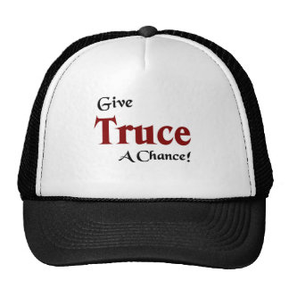 Give truce a chance hats