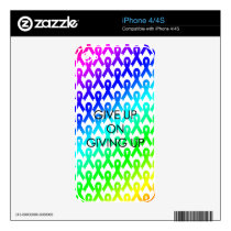 Give Up on Giving Up - skin Decal For iPhone 4