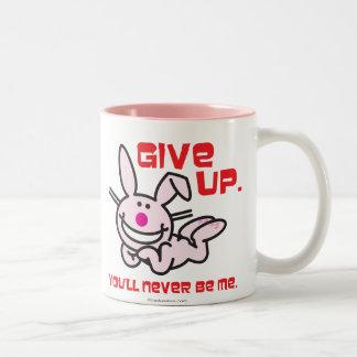 Give Up Two-Tone Coffee Mug