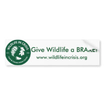 Give Wildlife a BRAKE! Bumper sticker