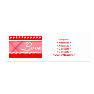 GIVE WITH LOVE ! MINI BUSINESS CARD