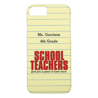 Give you a Piece of Their Mind Schoolteacher iPhone 7 Case