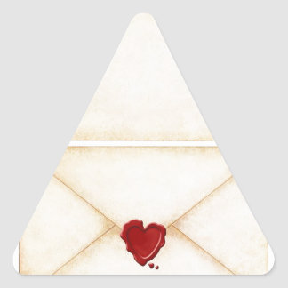 Give You My Heart Triangle Sticker