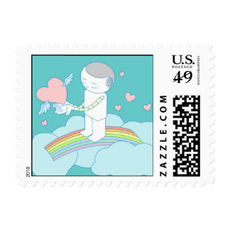 Give You My Love Doodle Art Postage