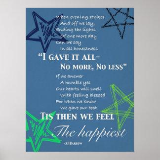 """Give Your Best"" Motivational Poem Poster Large"