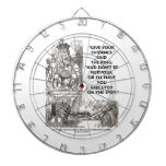 Give Your Evidence Don't Be Nervous Wonderland Dartboard With Darts