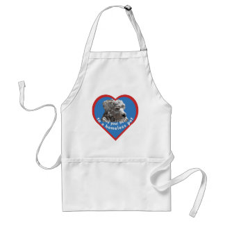 Give Your Heart to a Homeless Pet Adult Apron