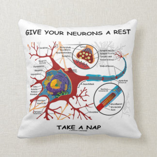 Give Your Neurons A Rest Take A Nap Neuron Synapse Throw Pillow