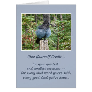 Give yourself credit... card
