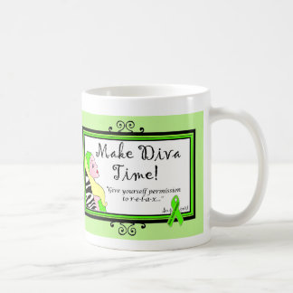 Give Yourself Permission to Relax! DivaLime Mugs