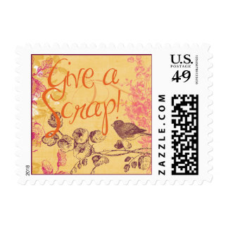 GiveAScrapBirdStamp Postage Stamp