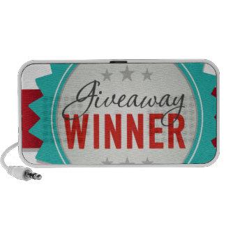 Giveaway Winner Notebook Speakers
