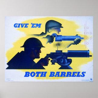 Give'em Both Barrels Poster