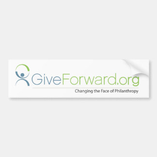 GiveForward Changing the Face of Philanthropy Bumper Sticker