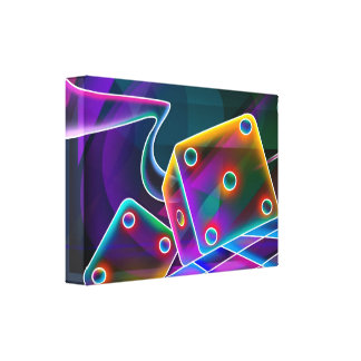 given-67935 COLORFUL DICE DIGITAL RANDOM ABSTRACT Canvas Print