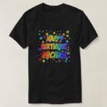 "[ Thumbnail: Given Name ""Michael"", Fun ""Happy Birthday"" T-Shirt ]"