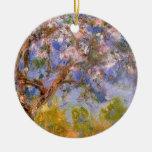 Giverny en primavera adorno redondo de cerámica