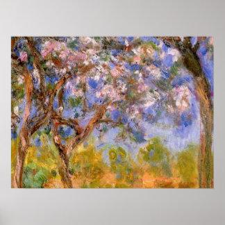 Giverny en primavera póster