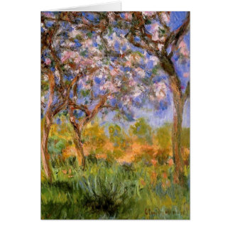 Giverny en primavera tarjeton